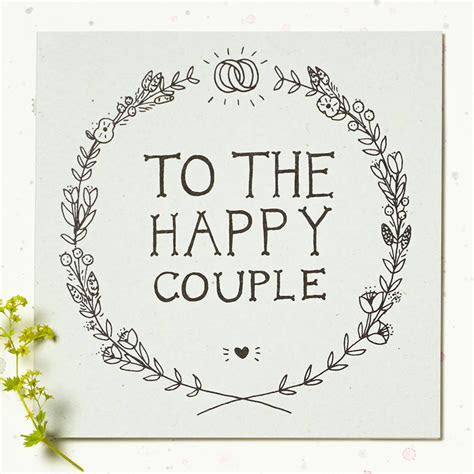 'to the happy couple' wedding card by wolf whistle
