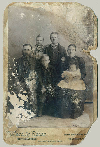 Family Portrait water damage