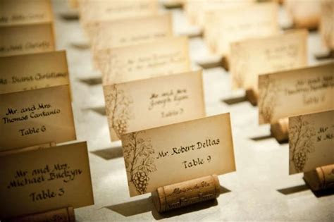 50 Wine Cork   Wedding Escort Card Holders With Cards