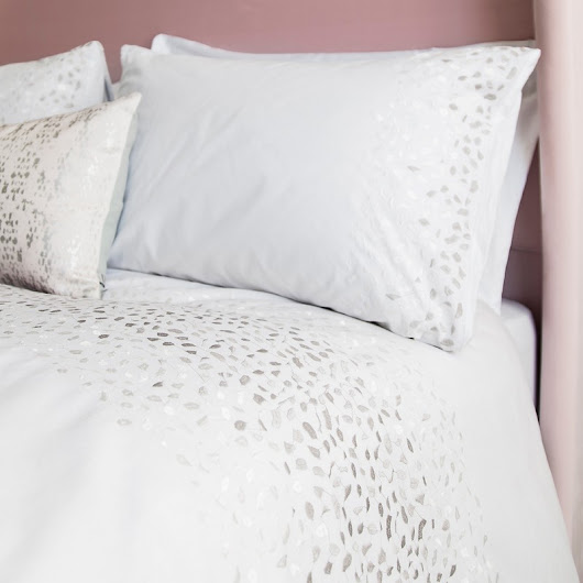 Clymping White Embroidered Bedlinen Set