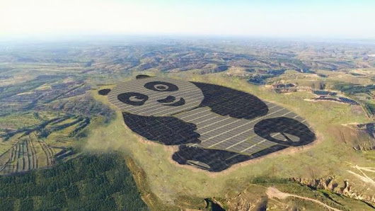 This giant panda? It's a solar farm in China