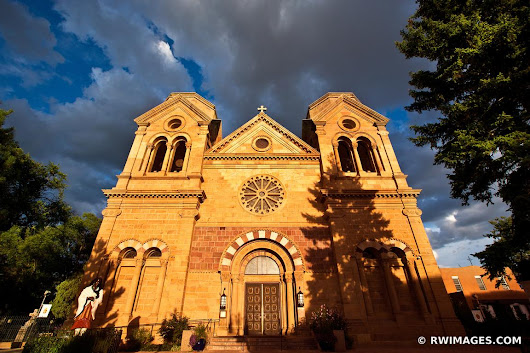 Photo Print of SUNSET CATHEDRAL BASILICA OF ST. FRANCIS OF ASSISI SANTA FE NEW MEXICO ARCHITECTURE COLOR Print Framed Picture Fine Art Photography Large Print Wall Decor Art For Sale Stock Image Photo Photograph High Resolution Digital Download Aluminum Metal Acrylic Canvas Framed Photo Print Buy Photo by Robert Wojtowicz Fine Art Photographer