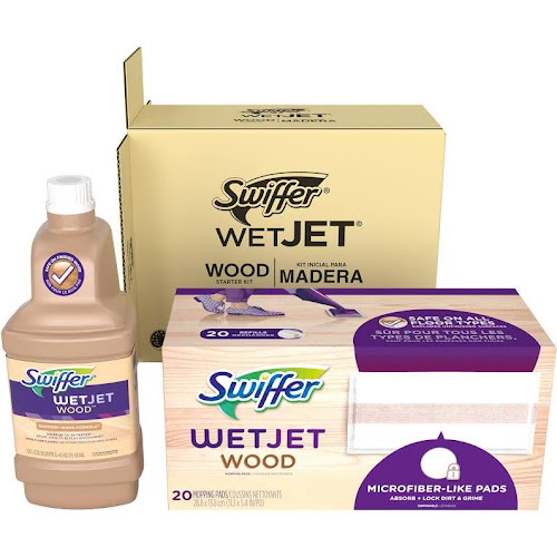 Google Express Swiffer Wetjet Wood Floor Spray Mop Starter Kit 1
