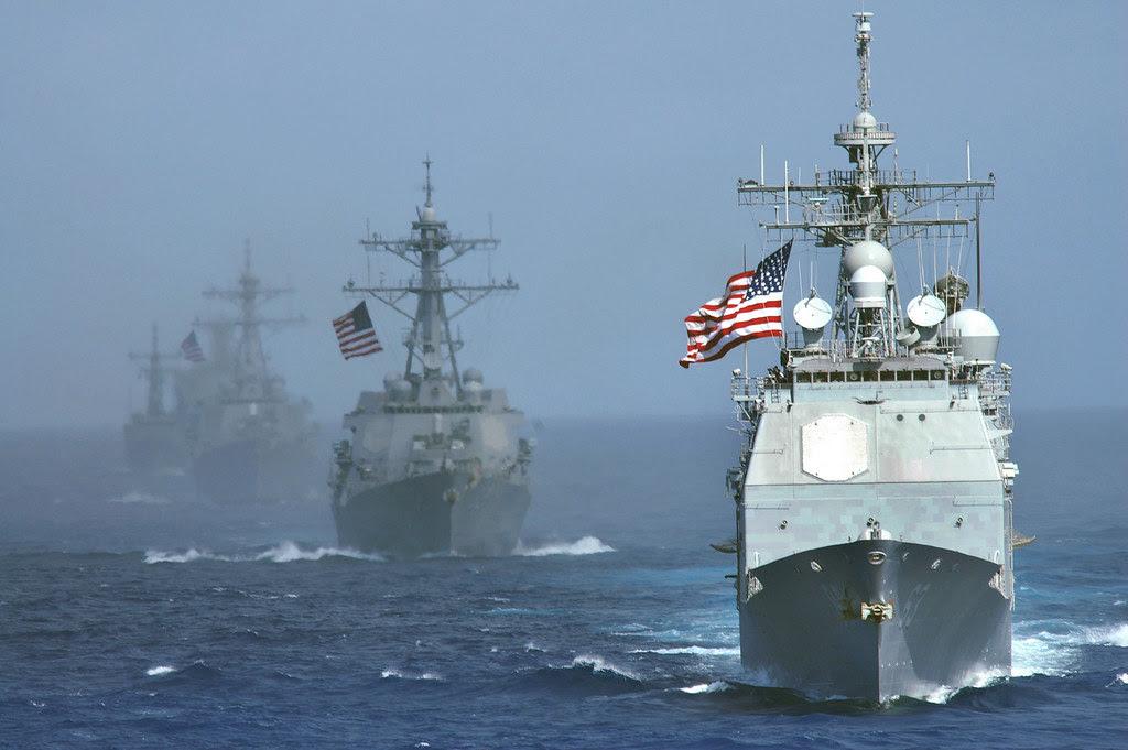 USS Cowpens (CG 63) USS Lassen (DDG 82) USS John S. McCain (DDG 56) USS Vandegrift (FFG 48) USNS Tippecanoe (T-AO 199) Western Pacific June 18 2006 Valiant Shield 2006