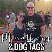 grab button for Marathons and Dog Tags