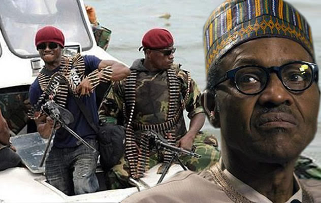 Image result for picture of president buhari and Niger delta militants