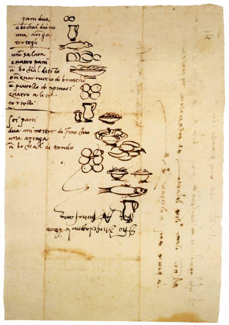 Michelangelo                                                            shopping list