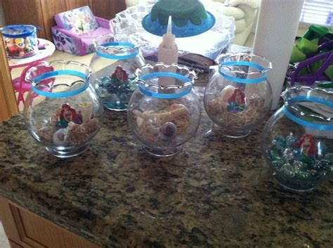 little mermaid centerpieces   My kid's parties   Pinterest