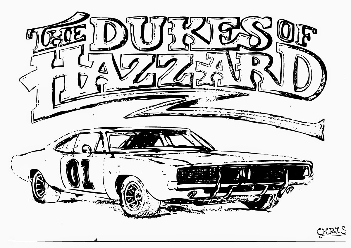 dodge charger drawing 1