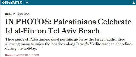 Haaretz Palestinians Tel Aviv beach.JPG