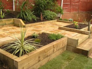 Garden Ideas Using Railway Sleepers Small Landscape Ideas
