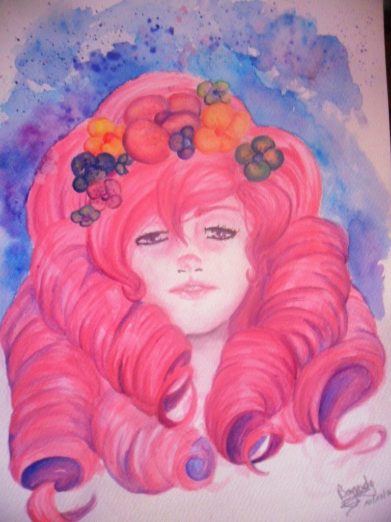 New drawing my friends :D I really like use watercolors Here you have Rose, she's pretty And here you have a song ;>
