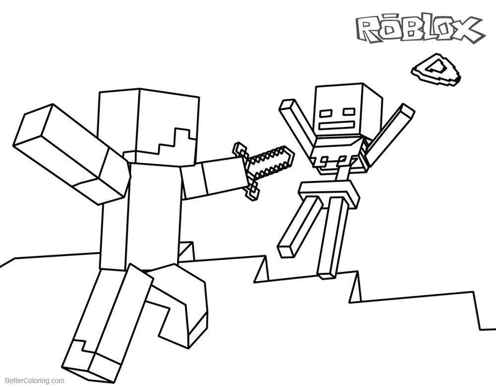Roblox Noob Colouring Pages   Bux.gg How To Use