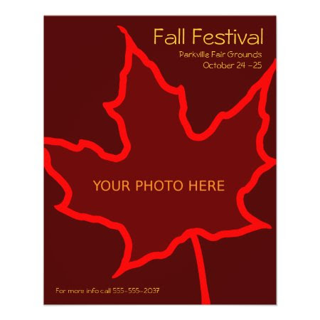 Fall Flyer Template flyer