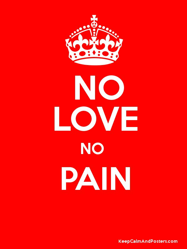 No Love No Pain Keep Calm And Posters Generator Maker For Free