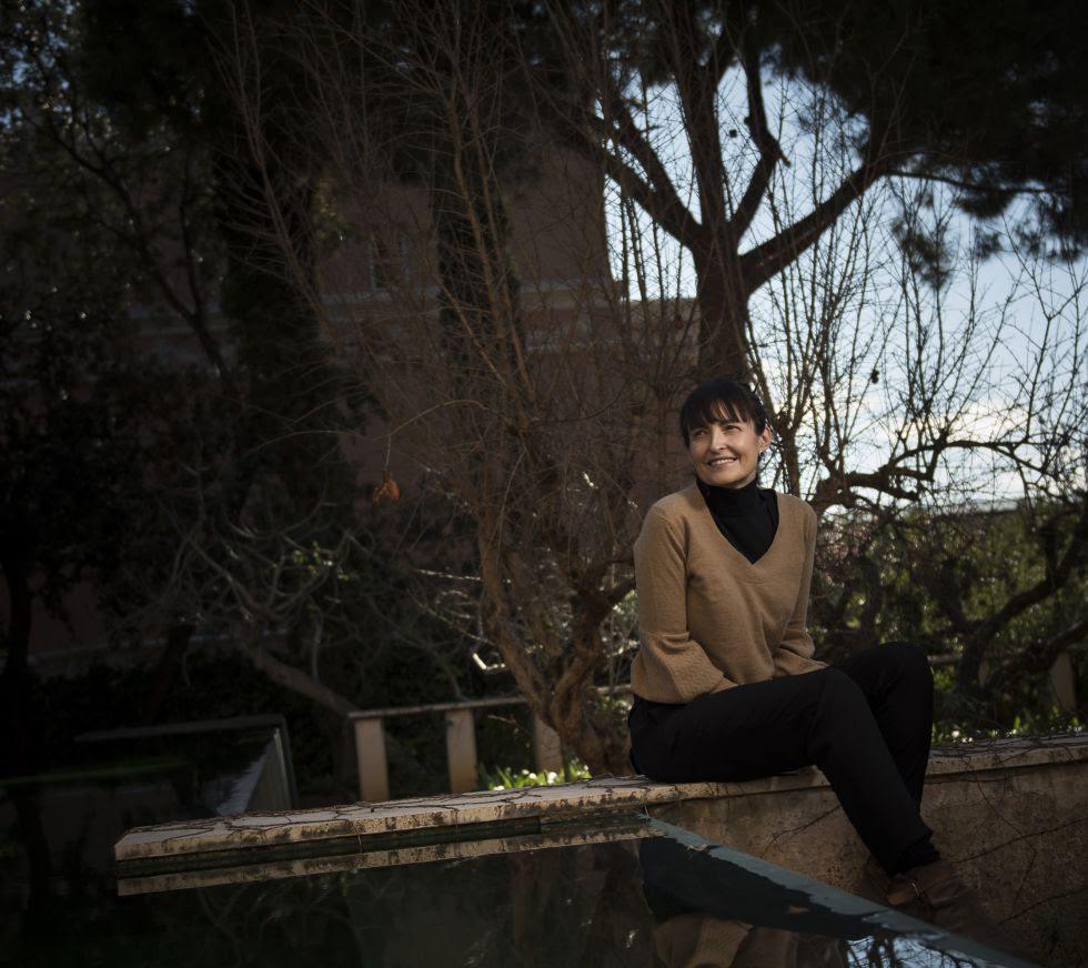 Eva Blanch, en su casa de Barcelona.