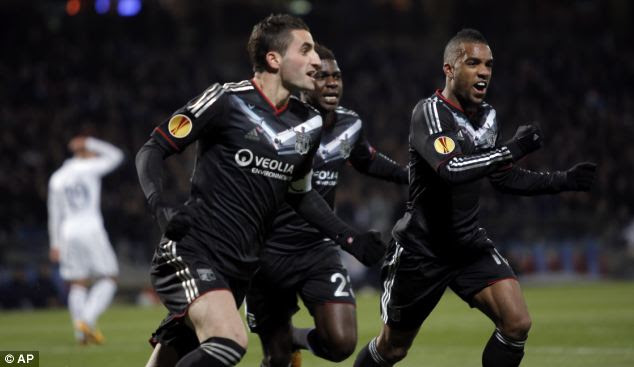 Goalscorer: Maxime Gonalons' header had put Lyon in front in the 17th minute