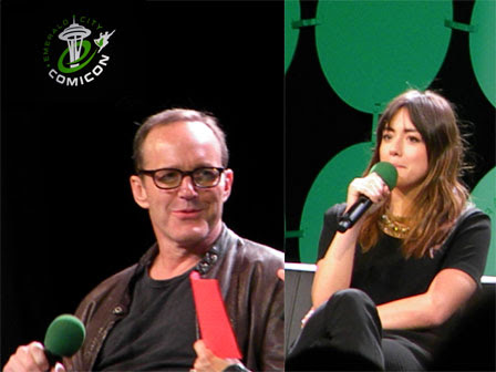 Emerald City Comicon 2015 Clark Gregg and Chloe Bennet