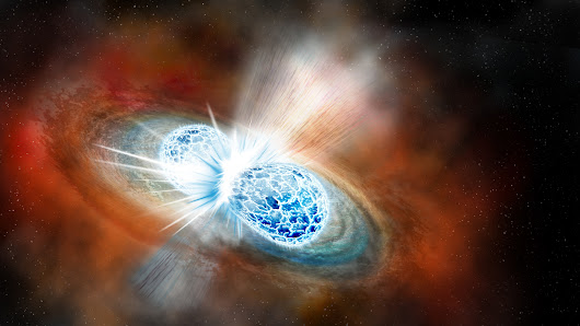 Collision Of 2 Neutron Stars – Seen For First Time – Spews Massive Cloud Of Gold, Heavy Elements : The Two-Way : NPR
