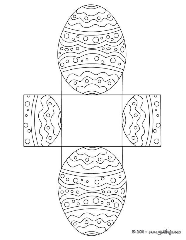 Cajas De Chocolates Para Colorear 5 Plantillas De Pascua Para Recortar