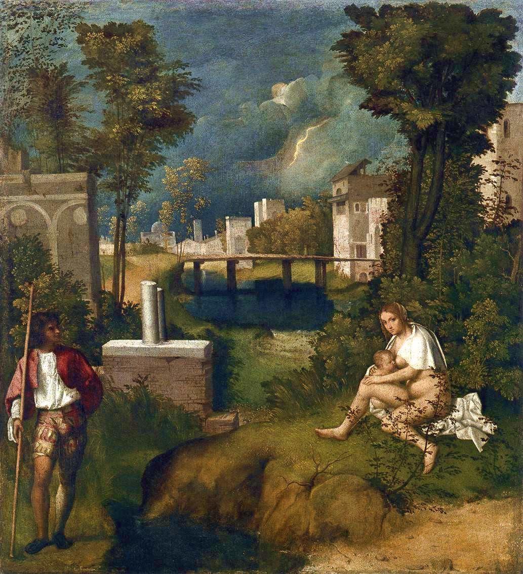 """Résultat de recherche d'images pour """"images de la tempête de Giorgione"""""""