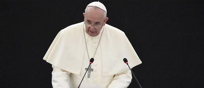 Le pape François lors de son discours devant les députés au Parlement européen (photo d'illustration).