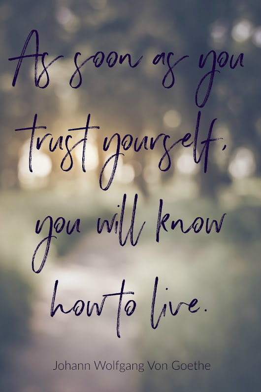 Do You Trust Yourself? [Monday Mojo & Magic]
