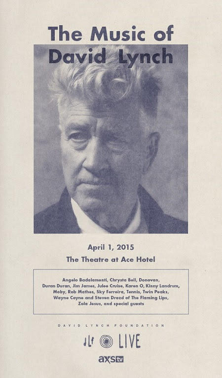 THE MUSIC OF DAVID LYNCH 4/1/15 at Ace DTLA | Art Nerd Los Angeles