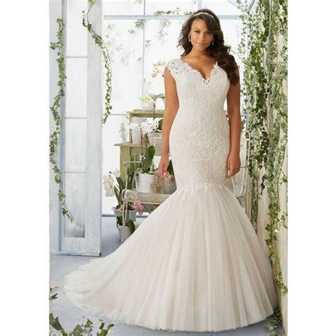 Mermaid Plus Size Wedding Dress RM3192 Elegant Lace