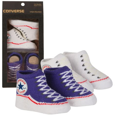 converse kids chuck taylor knitted booties socks purple