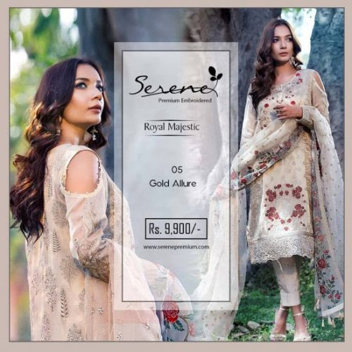 Royal Majestic Shalwar Kameez Collection By Serene 2017 - Fashionvilas.com