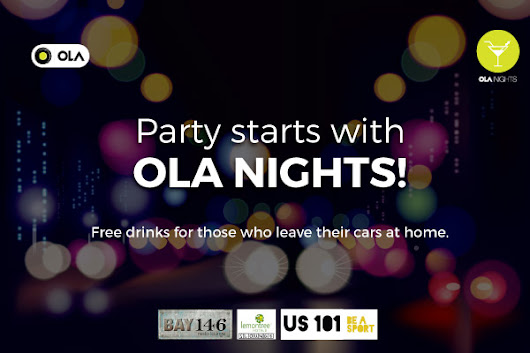 FREE drinks with Ola Nights! | Olacabs Blog