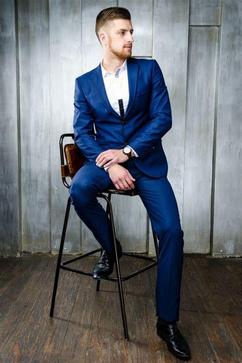 blue suit black dress hardon clothes