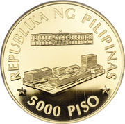 5000 Piso (Central Bank of the Philippines) – reverse