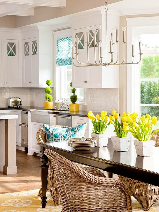 30 Dining Room Decor Ideas Inspired By Spring Itself | DigsDigs