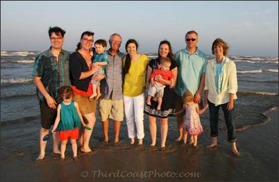 Family portraits in Port Aransas