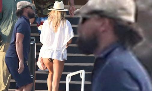 Leonardo DiCaprio unwinds on a yacht with girlfriend Kelly Rohrbach