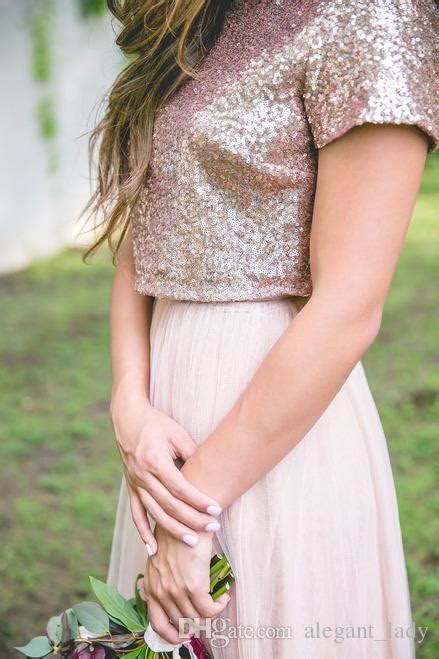 Two Tone Rose Gold Burgundy Country Bridesmaid Dresses