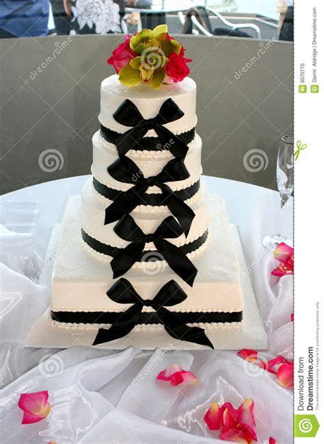 Bow tie wedding cake stock photo. Image of aldridge, black