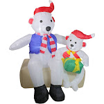 4' Inflatable Polar Bear Family Lighted Christmas Yard Art Decoration