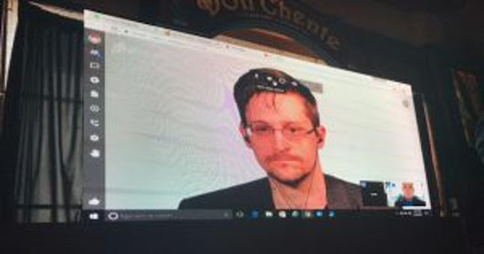 Edward Snowden Speaks Out On Communication And Change