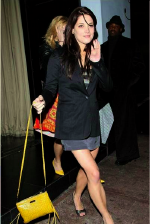 Ashley Greene carrying Rebecca Minkoff