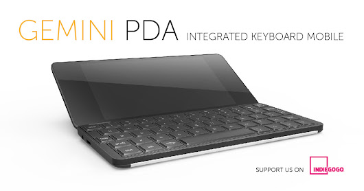 Gemini PDA Android & Linux keyboard mobile device