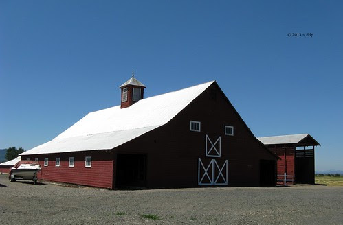 Very Old Red Barn Smiling for Over a Century