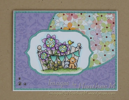 "HeatherM using From The Heart Stamps ""Whimsy Garden Fence"" digi"