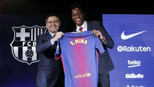 Yerry Mina's Barcelona shirt number revealed With the transfer now completed, Yerry Mina already knows...