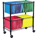Alera Rolling File Cart - Trolley - 2 tiers - black
