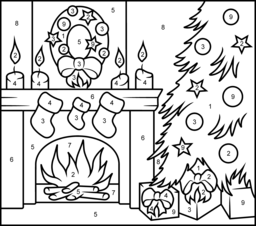 70 Christmas Coloring Pages With Numbers , Free HD Download