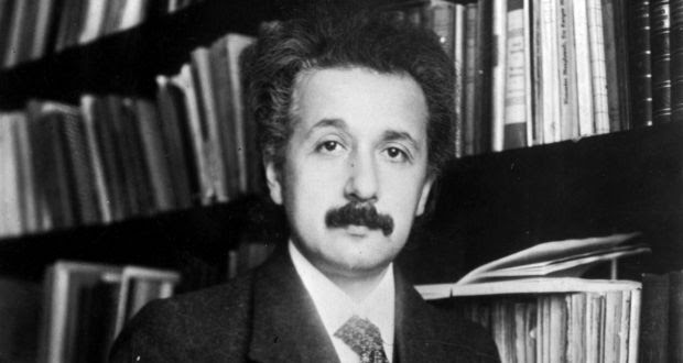 The German-born mathematical atomic physicist Albert Einstein (1879 - 1955).