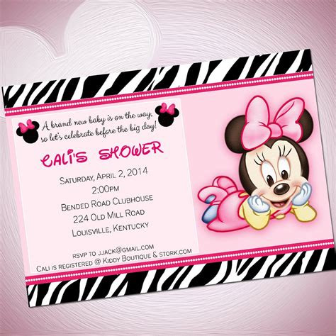 baby minnie mouse template invitations